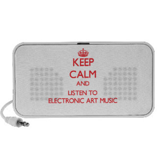 Keep calm and listen to ELECTRONIC ART MUSIC Mini Speakers