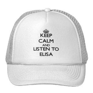 Keep Calm and listen to Elisa Trucker Hat