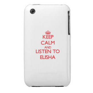 Keep Calm and Listen to Elisha Case-Mate iPhone 3 Cases
