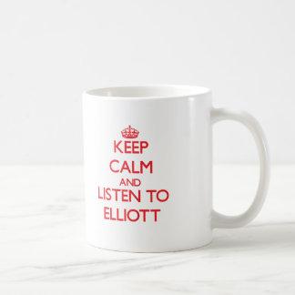 Keep calm and Listen to Elliott Classic White Coffee Mug