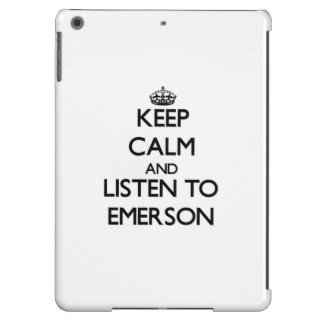 Keep calm and Listen to Emerson iPad Air Covers
