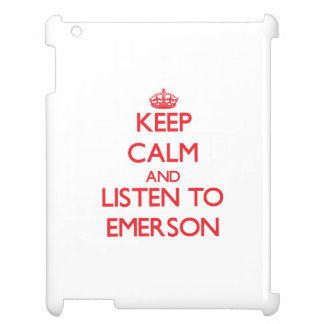 Keep calm and Listen to Emerson Case For The iPad 2 3 4