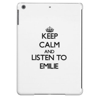 Keep Calm and listen to Emilie iPad Air Covers