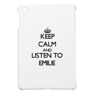 Keep Calm and listen to Emilie iPad Mini Cases