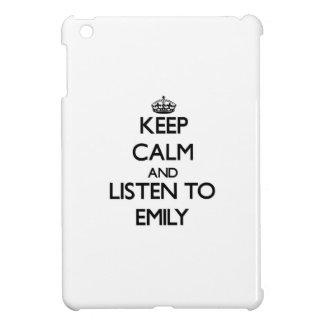 Keep Calm and listen to Emily iPad Mini Covers