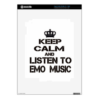 Keep Calm And Listen To Emo Music Decal For The iPad 2