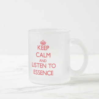 Keep Calm and listen to Essence 10 Oz Frosted Glass Coffee Mug
