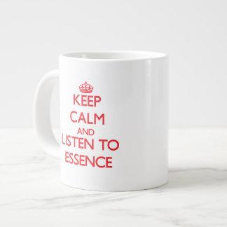 Keep Calm and listen to Essence 20 Oz Large Ceramic Coffee Mug
