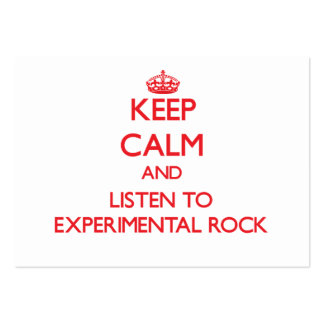 Keep calm and listen to EXPERIMENTAL ROCK Business Card