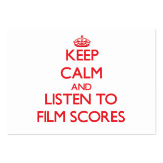 Keep calm and listen to FILM SCORES Business Card Templates