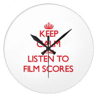 Keep calm and listen to FILM SCORES Wallclocks
