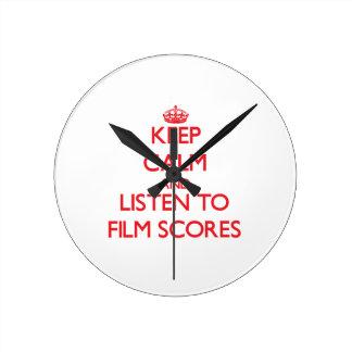 Keep calm and listen to FILM SCORES Wallclock