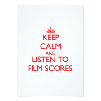 Keep calm and listen to FILM SCORES Personalized Announcement