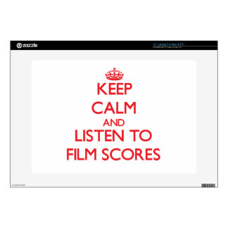 """Keep calm and listen to FILM SCORES 15"""" Laptop Decal"""