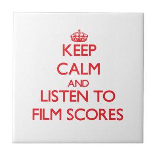 Keep calm and listen to FILM SCORES Ceramic Tiles