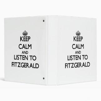 Keep calm and Listen to Fitzgerald Vinyl Binder