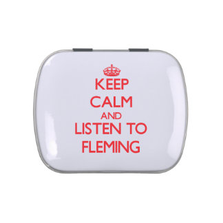 Keep calm and Listen to Fleming Jelly Belly Tin