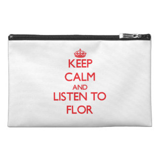 Keep Calm and listen to Flor Travel Accessory Bag