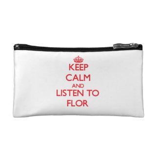 Keep Calm and listen to Flor Makeup Bag