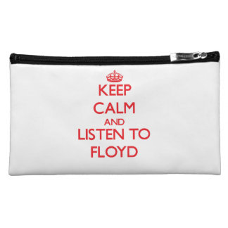 Keep Calm and Listen to Floyd Cosmetics Bags