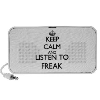 Keep calm and listen to FREAK Mp3 Speakers