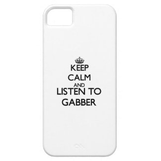 Keep calm and listen to GABBER iPhone 5/5S Covers