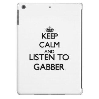Keep calm and listen to GABBER iPad Air Covers