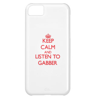 Keep calm and listen to GABBER iPhone 5C Case