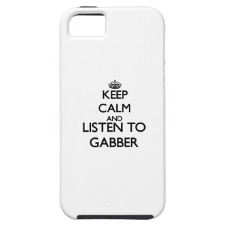 Keep calm and listen to GABBER iPhone 5 Covers