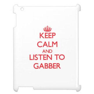 Keep calm and listen to GABBER iPad Case