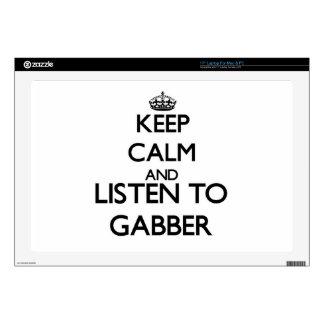"Keep calm and listen to GABBER 17"" Laptop Decals"
