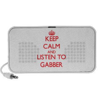 Keep calm and listen to GABBER iPod Speaker