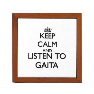 Keep calm and listen to GAITA Desk Organizer
