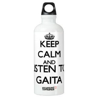 Keep calm and listen to GAITA SIGG Traveler 0.6L Water Bottle