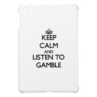Keep calm and Listen to Gamble iPad Mini Case
