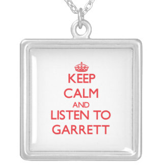Keep calm and Listen to Garrett Personalized Necklace