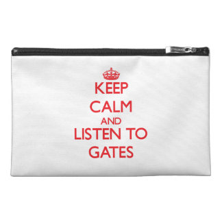 Keep calm and Listen to Gates Travel Accessories Bags