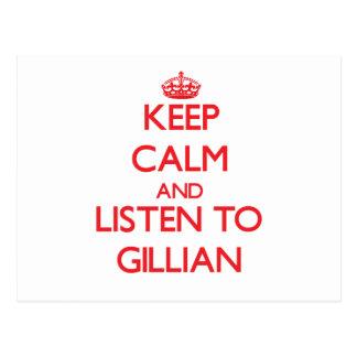 Keep Calm and listen to Gillian Postcards