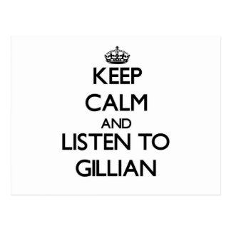 Keep Calm and listen to Gillian Post Cards