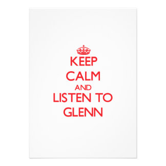 Keep Calm and Listen to Glenn Personalized Invite