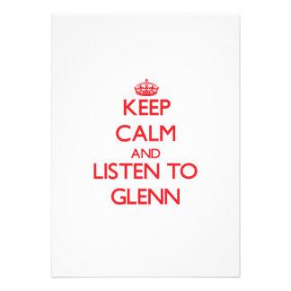 Keep Calm and Listen to Glenn Invitations