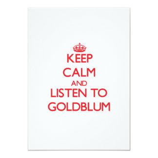Keep calm and Listen to Goldblum 5x7 Paper Invitation Card
