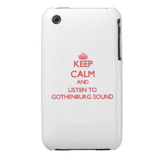 Keep calm and listen to GOTHENBURG SOUND Case-Mate iPhone 3 Cases
