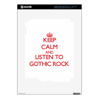 Keep calm and listen to GOTHIC ROCK iPad 3 Decal