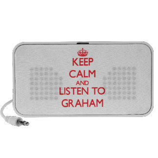 Keep calm and Listen to Graham iPhone Speakers