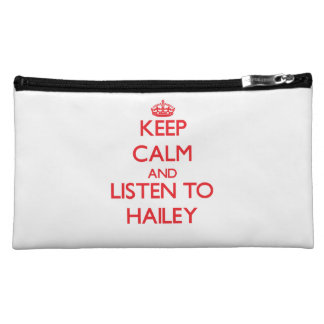 Keep Calm and listen to Hailey Cosmetic Bag