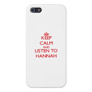 Keep Calm and listen to Hannah Cover For iPhone 5