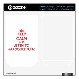 Keep calm and listen to HARDCORE PUNK FreeAgent GoFlex Decals