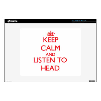 "Keep calm and Listen to Head 12"" Laptop Decal"