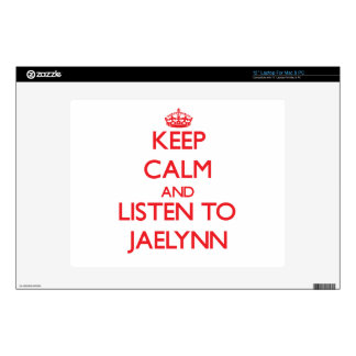 Keep Calm and listen to Jaelynn Skin For Laptop